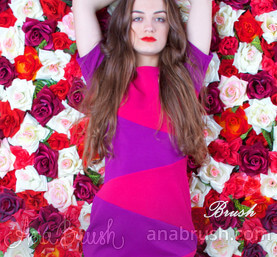 Фото Платье Color Blocking Pink - 1